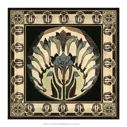 Framed Arts & Crafts Motif III Print