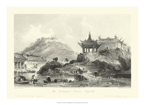 Framed Scenes in China II Print