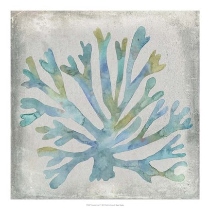 Framed Watercolor Coral I Print