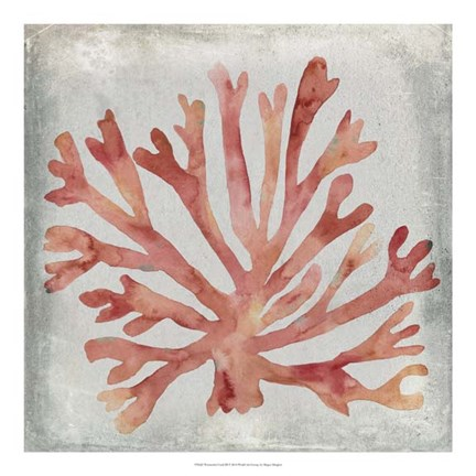 Framed Watercolor Coral III Print
