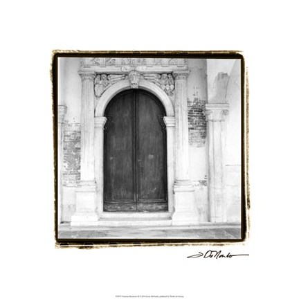Framed Venetian Doorways II Print