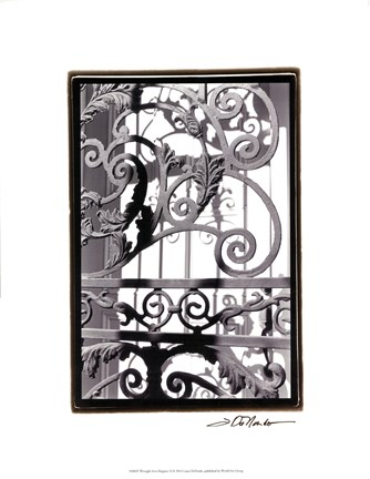 Framed Wrought Iron Elegance II Print