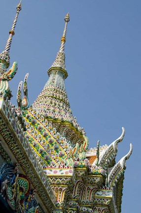 Framed Roof detail, Grand Palace, Bangkok, Thailand Print