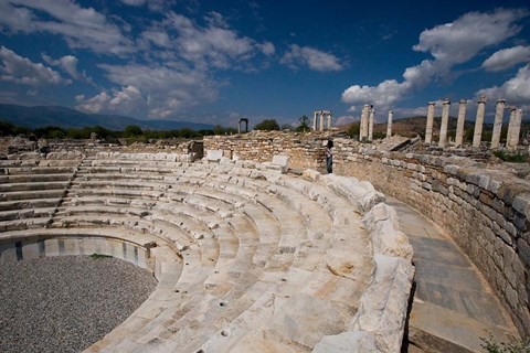 Framed Theater in the Round, Aphrodisias, Turkey Print
