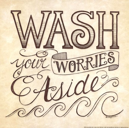 Framed Wash Your Worries Aside Print