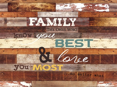Framed Family Knows You Best Print