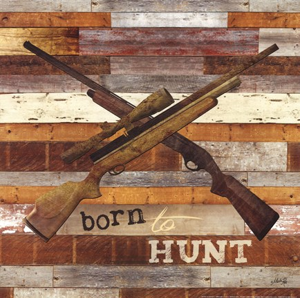 Framed Born to Hunt I Print