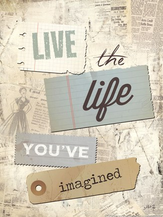 Framed Live the Life You've Imagined Print