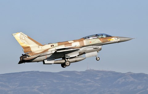 Framed Israeli Air Force F-16I Sufa Print