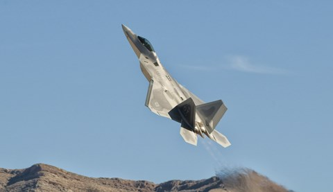 Framed US Air Force F-22 Raptor, Nellis Air Force Base, Nevada Print