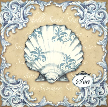 Framed Sea Tiles - Sea Print