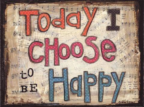 Framed Choose to be Happy Print