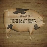 Pig Sign  Fine Art Print