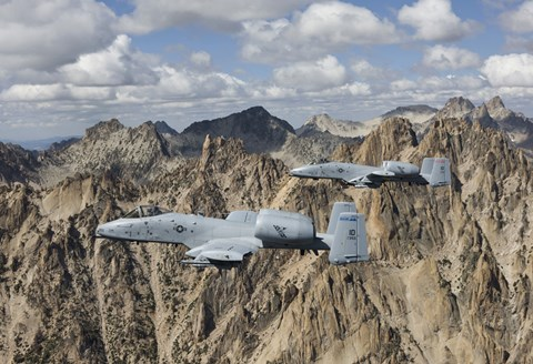 Framed Two A-10 Thunderbolt's in Central Idaho Print