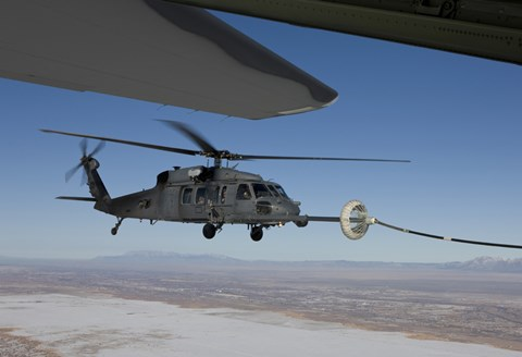Framed HH-60G Pave Hawk Conducts Aerial Refueling from an HC-130 Print