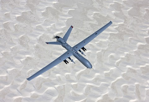 Framed MQ-9 Reaper Flies a Training Mission Over Southern New Mexico Print