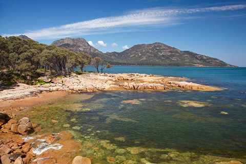Framed Rocks, Coles Bay, The Hazards, Freycinet, Australia Print