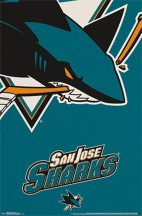 Framed San Jose Sharks® - Logo 14 Print