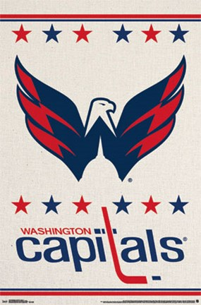 Framed Washington Capitals® - Logo 14 Print