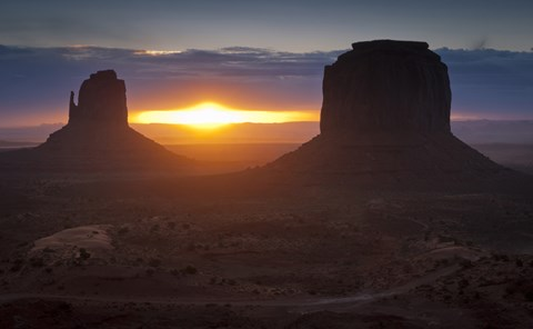 Framed Mitten Formations in Monument Valley, Utah Print