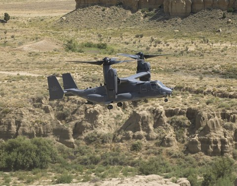 Framed CV-22 Osprey Prepares to Land Print