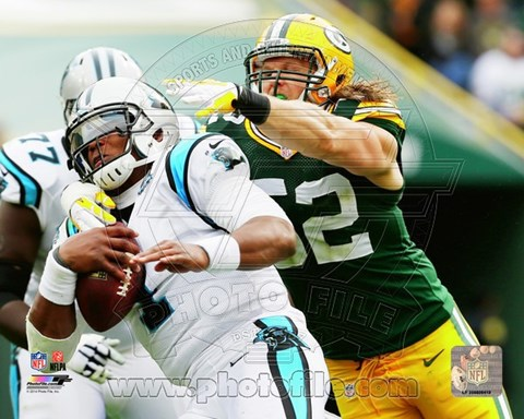 Framed Clay Matthews Football Action Print