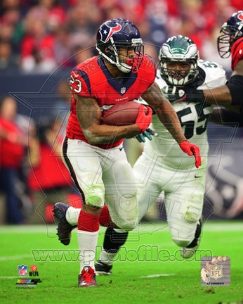 Framed Arian Foster with the ball 2014 Print
