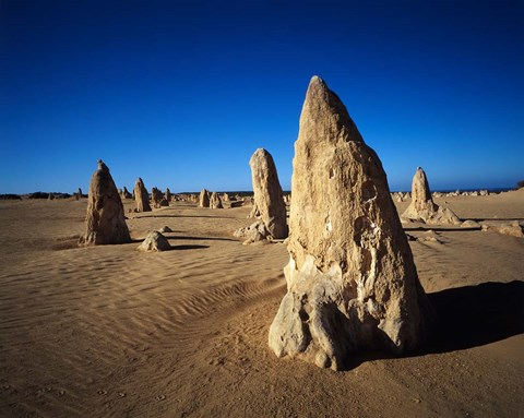 Framed Pinnacles, Nambung National Park, Western Australia, Australia Print