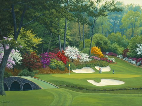 Augusta On The 12th Hole Fine Art Print By Charles White