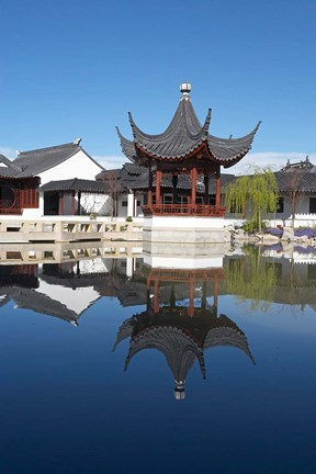 Framed Chinese Garden, Dunedin, Otago, South Island, New Zealand Print