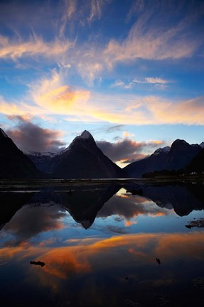 Framed New Zealand, South Island, Fiordland, Milford Sound Print