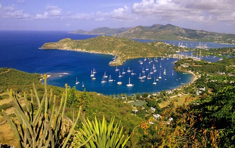 Framed English Harbour, Antigua Print