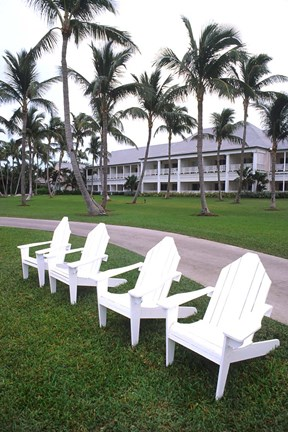 Framed Adirondack Chairs, Ocean Club in Paradise, Atlantis Resort, Bahamas Print