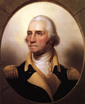 Framed George Washington (digitally restored) Print