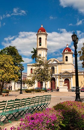 Framed Beautiful Immaculate Conception Catholic Church in Cienfuegos, Cuba Print