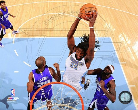 Framed Kenneth Faried 2014-15 Action Print
