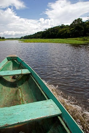 Framed Dugout canoe, Arasa River, Amazon, Brazil Print