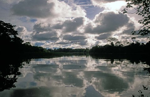 Framed Clouds over Amazon River, Amazon River Basin, Peru Print