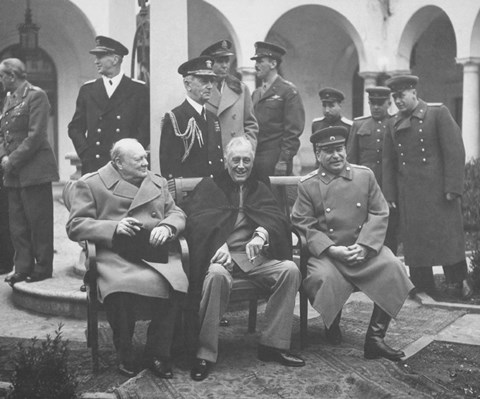 Framed Leaders Meeting at the Yalta Conference Print