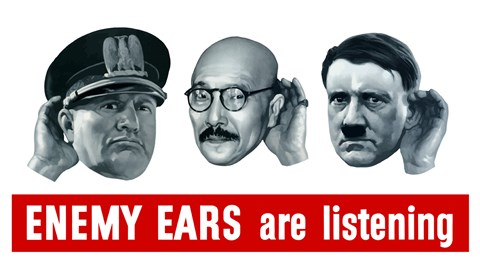 Framed Enemy Ears are Listening Print