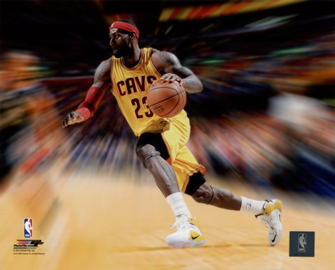 Framed LeBron James Motion Blast Print