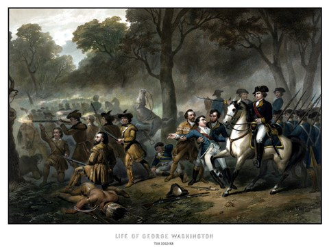 Framed Battle of the Monongahela Print