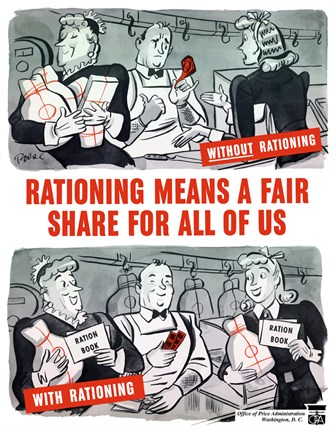 Framed Rationing Means a Fair Share for All of Us Print