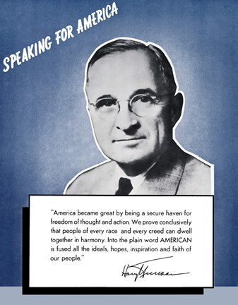 Framed Speaking for America - Harry Truman Print