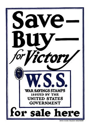 Framed Save - Buy - For Victory Print