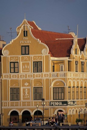 Framed Penha and Sons Building, Willemstad, Curacao, Caribbean Print