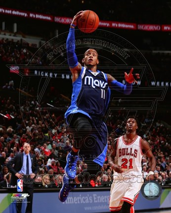 Framed Monta Ellis on the court 2014-15 Print