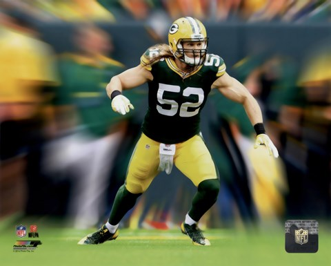 Framed Clay Matthews Motion Blast Print