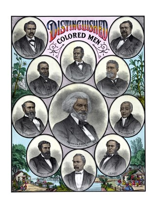 Framed Most Celebrated African American Leaders Print