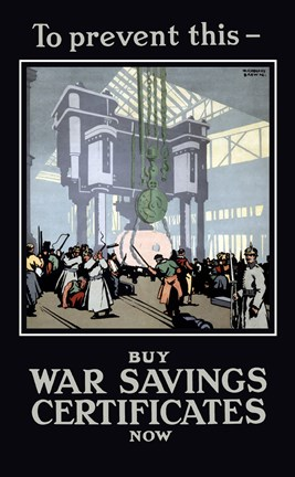 Framed Buy War Savings Certificates Print